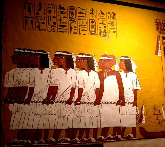 Ancient egyptian murals from tutankhamun s tomb flickr for Ancient egyptian mural