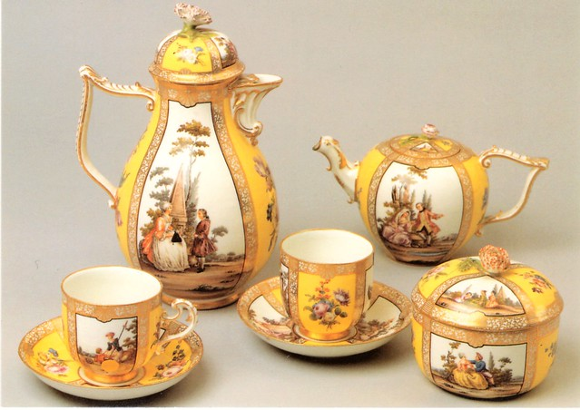 Bamberg, Sammlung Ludwig, Tee- und Kaffeeservice, Meißen um 1750 (Ludwig Collection, tea and coffee set)