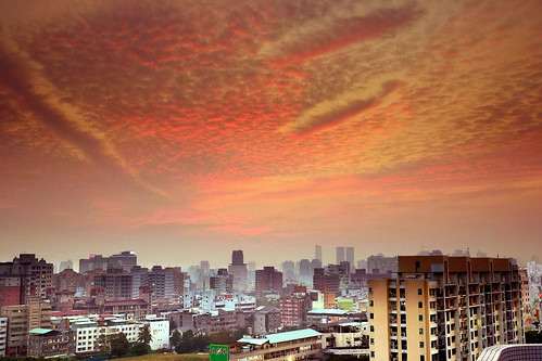 sunset clouds taiwan taichungcity 彩霞 hotelone 台中亞緻飯店 sonya850 sony2470za