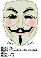 Anonymous für alle: die Guy Fawkes Maske aus V wie Vendetta