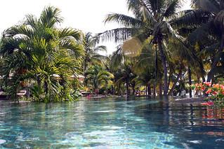 Les Pavillons swimming pool, Mauritius