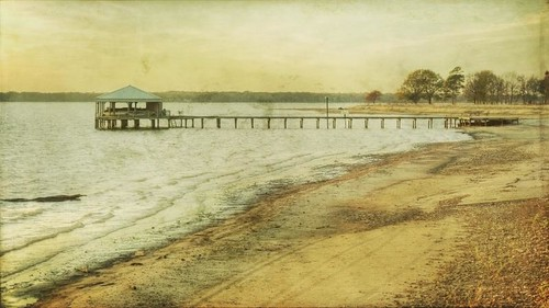 trees beach water canon vintage landscape texas afternoon aged 16x9 pinecove lakepalestine privatedock t1i