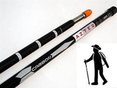 cue stick(0.0), baseball bat(0.0), bicycle frame(0.0), sports equipment(1.0), hiking equipment(1.0),