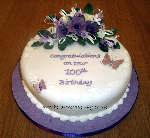 100th Round Birthday Cake