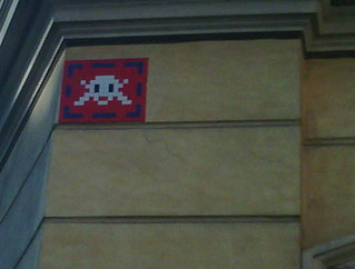 Space Invaders, Largo Magnanapoli, Roma.
