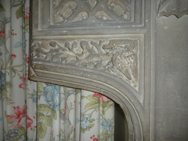 Remains of a fireplace or doorway in Mary Tudor's room at Thornbury Castle