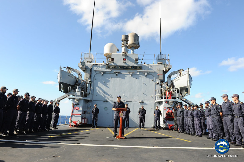 FCDR paid a visit to ITS Euro after her months with opATALANTA – EUNAVFOR MED