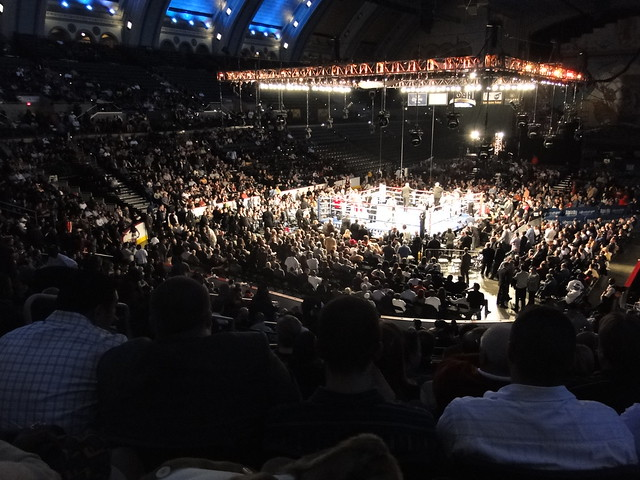 Boxing at Boardwalk Hall by CC user chamberoffear on Flickr