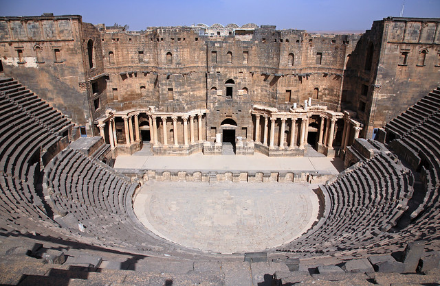 Roman theatre of Bosra,Bosra,Syria  The Roman theatre of ...