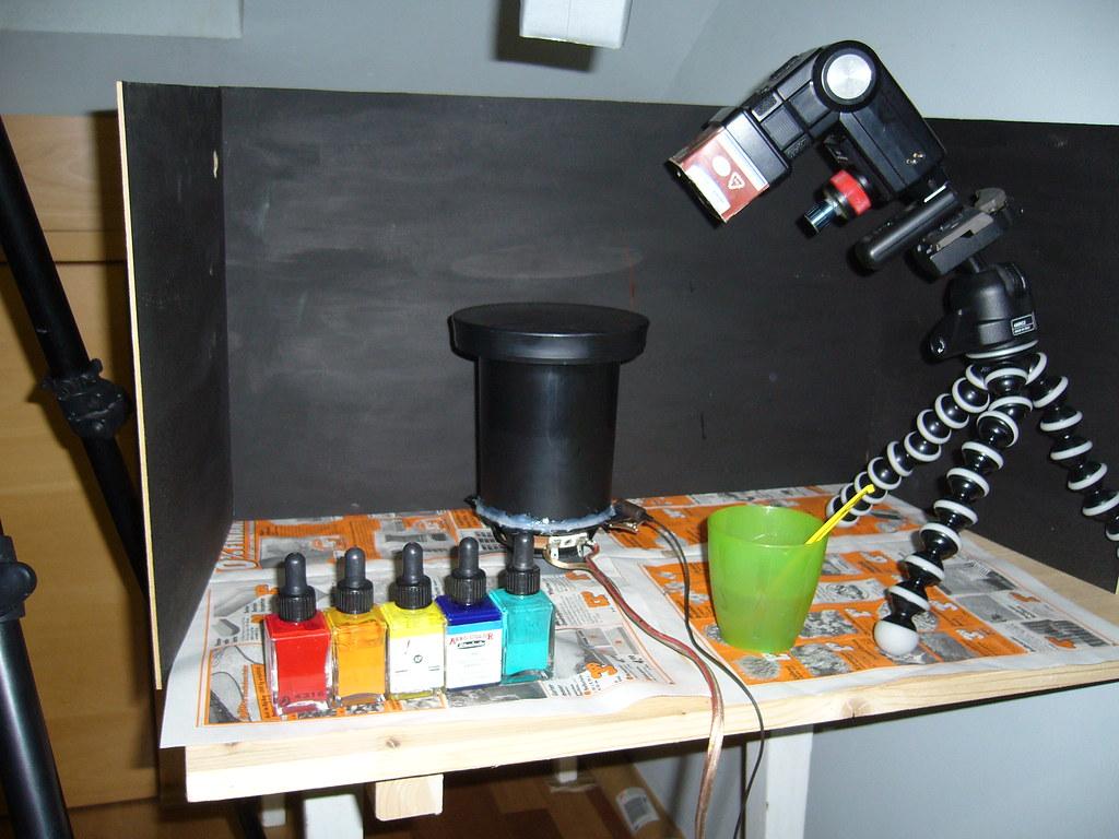 Liquid Sculptur Setup #1 Closeup