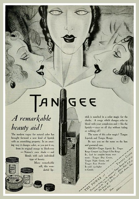 Vintage Advert for Tangee Lipstick and Rouge - Photoplay Apr 1928
