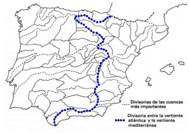 Mapa de las principales cuencas hidrográficas de la península (Versión Corregida)