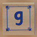 Block Lowercase Letter g
