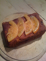 Candied orange whisky cake
