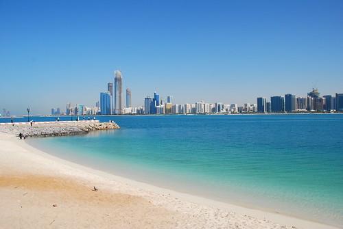 Abu Dhabi skyline from Break Water