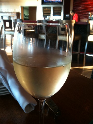 Loving the chill atmosphere, Laird pinot grigio (and panoramic views of ocean) at Gannon's Red Bar