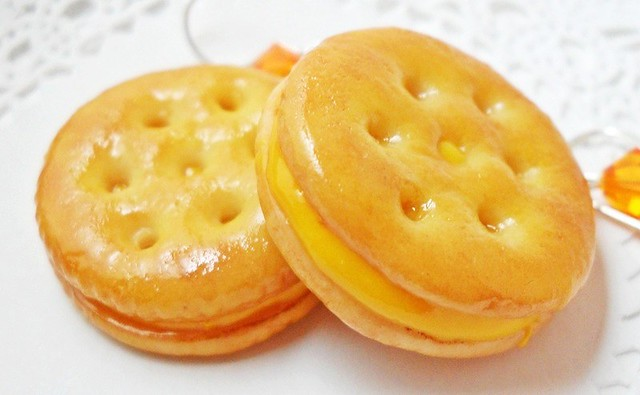 Ritz Crackers Cheese Sandwich Earrings | Flickr - Photo Sharing!