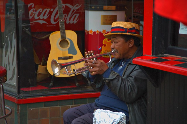 Smooth Talkin Trumpet Player by cwwycoff1, on Flickr