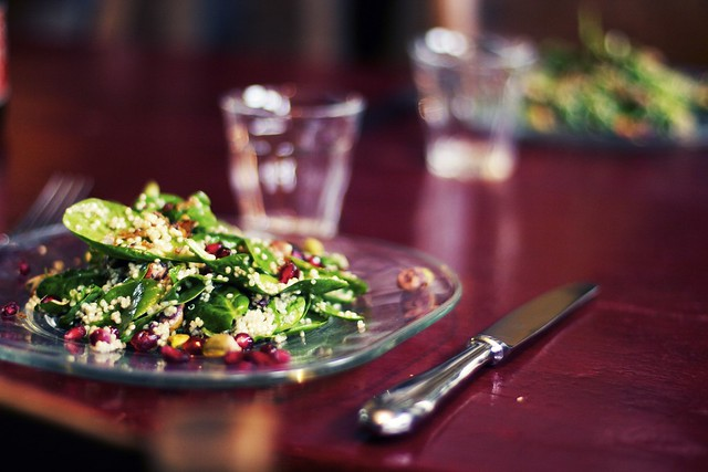 Coconut Quinoa + Spinach Salad by Octave Zangs
