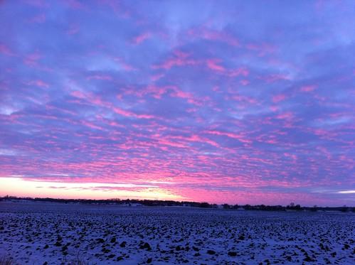 cameraphone sunset sky wisconsin december 2010 iphone delavan