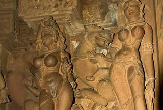 11 Khajuraho temple. Kama Sutra