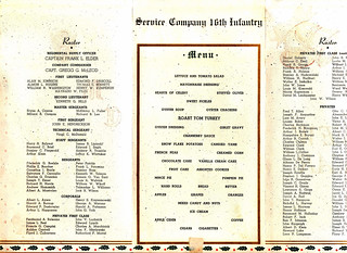 1941 - Christmas Dinner - Service Co. 16th Infantry