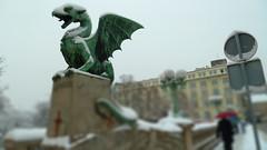 Ljubljana Dragon Bridge Tiltshift