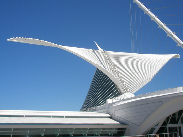 Milwaukee Museum of Art building, Architect Santiago Calatrava, Milwaukee, Wisconsin