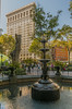 Madison Square Park Fountain Area With Perspective Of Flatiron Building In View by nrhodesphotos(the_eye_of_the_moment)