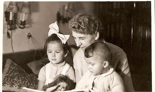 1955. Grandma and us