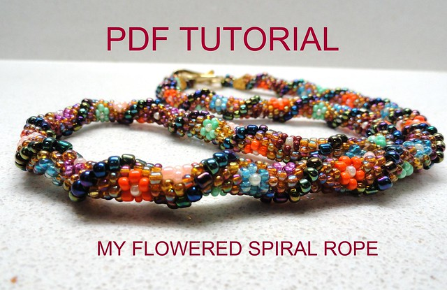How to stitch beads in the spiral weave pattern for jewelry