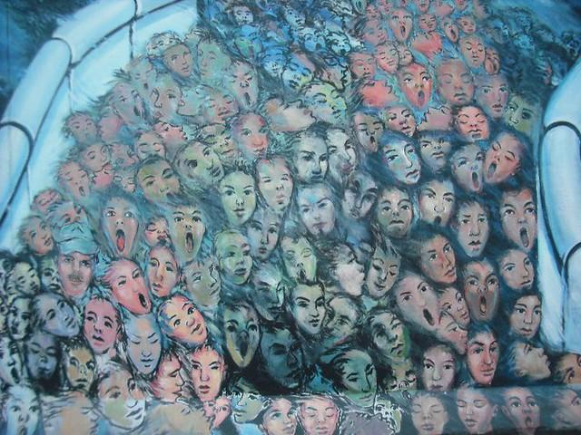 Berlin wall face mural flickr photo sharing for Mural z papiezem franciszkiem
