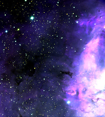 dark patches in lagoon nebula