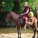 Monk on horse at Wat Tham Archa Thong, Chiang Mai