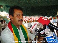 Agha Hassan giving a speech in Khuzdar