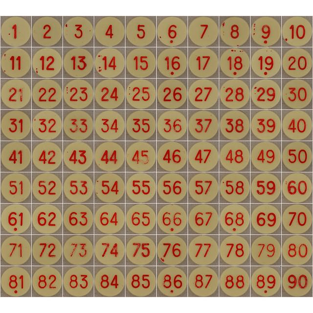 Plastic Bingo Numbers | Flickr - Photo Sharing!