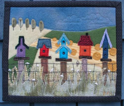 birdhouse fence wool mini by Poppyprint