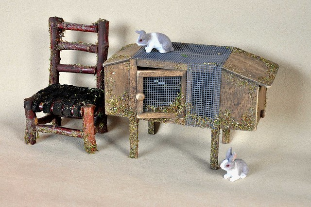 Fireplace with fairy lights flickr photo sharing - Fairy House Bunny Hutch Amp Chair Flickr Photo Sharing