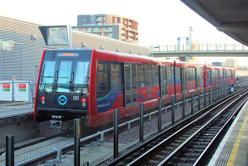 "DLR B07 ""Olympic Batch"" Stock at Canning Town (Low Level) by bowroaduk"