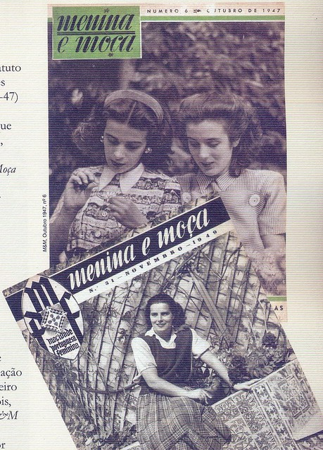 Menina e Moça, Nº 6, Outubro 1947, e Nº 31, Novembro 1949 - capas