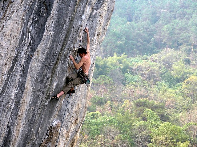 rock climbing @ lei pi shan, yangshuo china