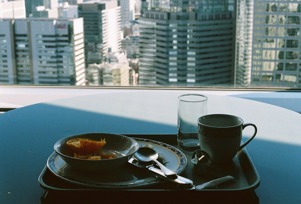 Finished breakfast on the 39 floor, Tokyo