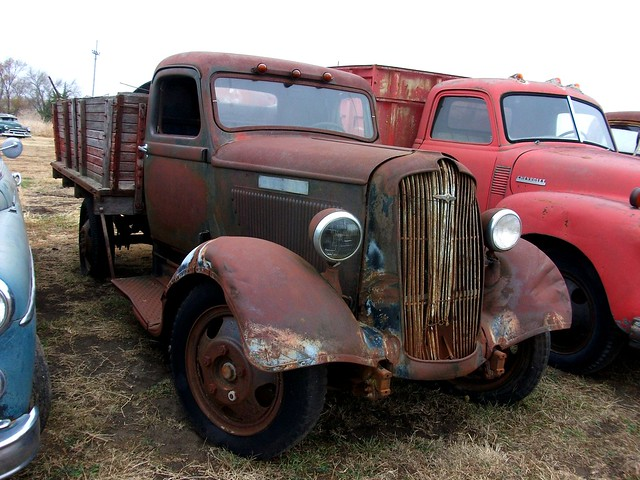 rusty old 1936 dodge truck flickr photo sharing. Black Bedroom Furniture Sets. Home Design Ideas