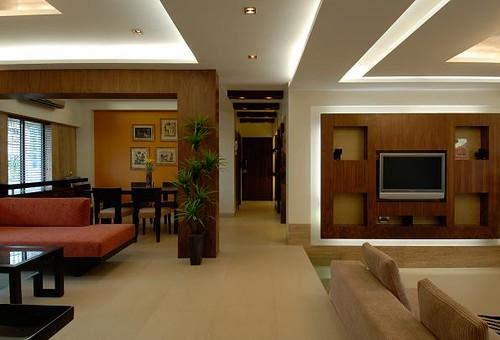 Living Room Pictures Brown by Mahesh Punjabi Associates: Interior Designer, Architect