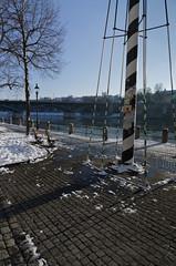 Winterliches Rheinufer