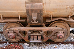 Axels of tank car @ Phnom Penh station