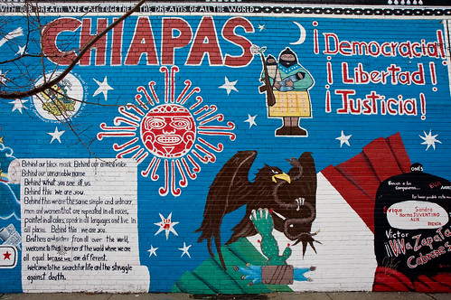 We heart new york zapatista mural in east harlem for Mural zapatista