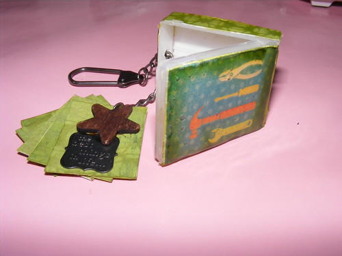 Handyman Key Chain Mini Scrapbook Album