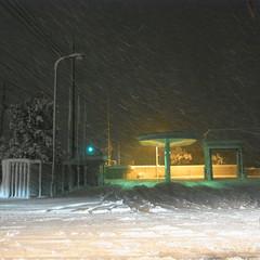2010年12月31日 大雪 倉吉バスセンター
