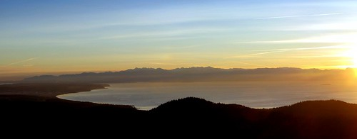 seattle sunset sky panorama cloud sun color beach america coast washington google unitedstates northwest picasa pacificocean shade whidbeyisland pugetsound olympic anacortes peninsula goldenhour